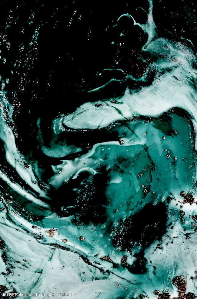 大理石鎏金暗绿背景海报素材图片