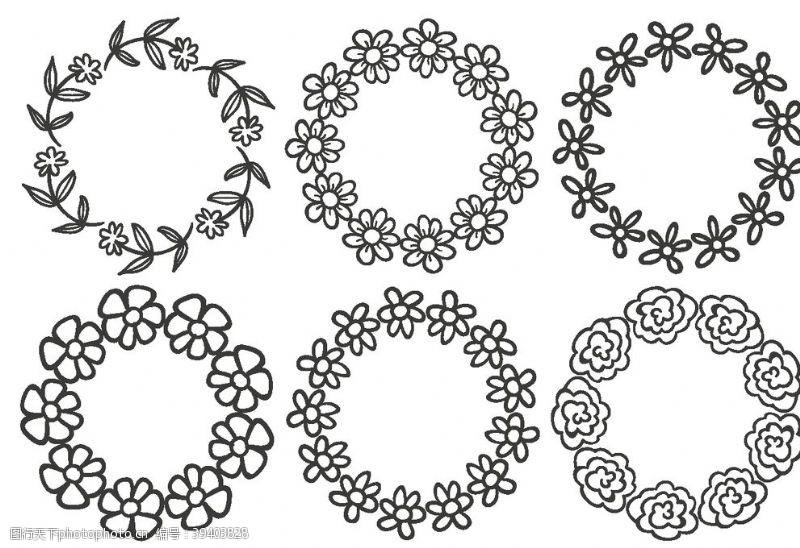 欧式花纹花边图案图片