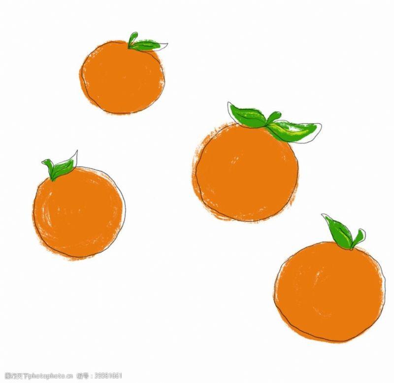 橘子橙子水果背景图片
