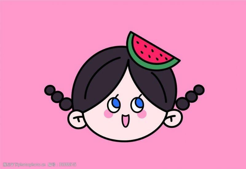 动漫人物可爱女孩头像图片