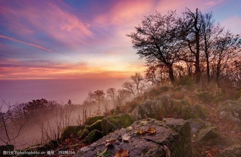 山脉山水风景图片