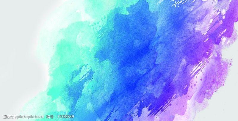 蓝色背景水彩背景图片
