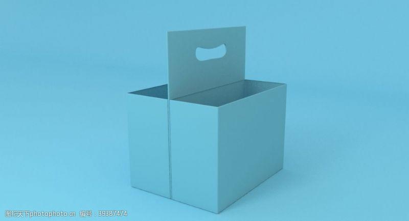 包装设计提篮蓝色啤酒箱子纸箱图片