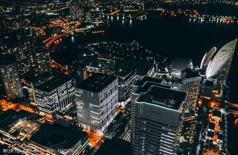 光影城市夜景图片