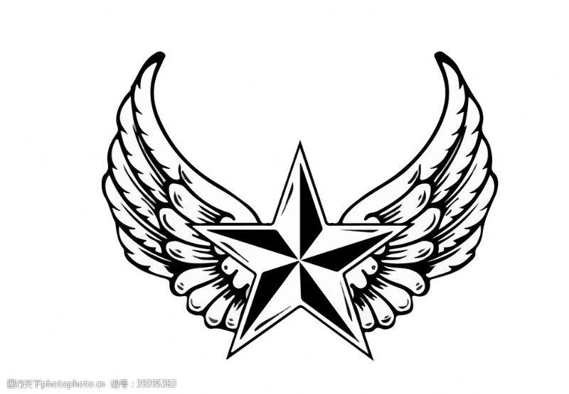 矢量翅膀星星图片