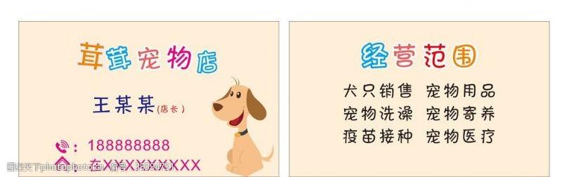 动物名片宠物狗名片图片