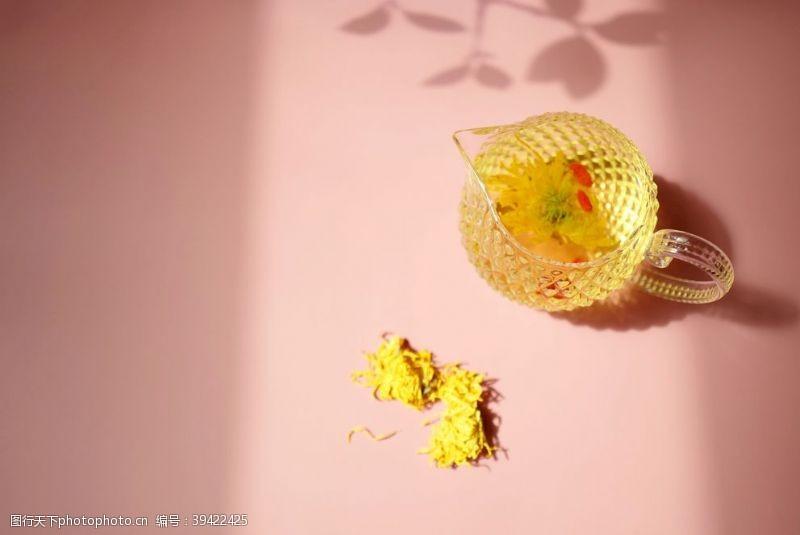 光影枸杞菊花茶图片