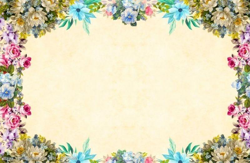 春季促销花朵边框图片