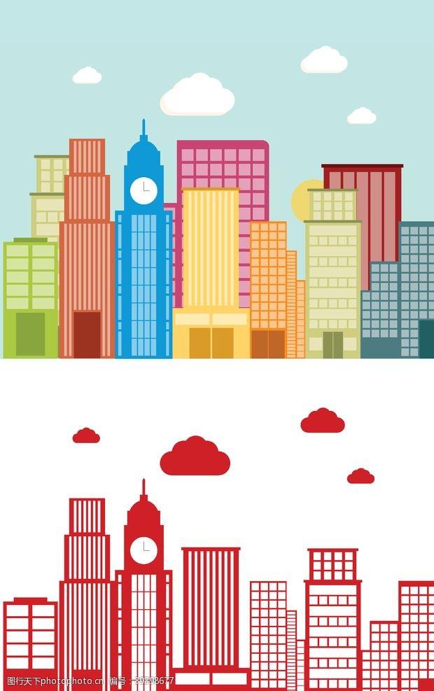 卡通设计卡通城市高楼图片