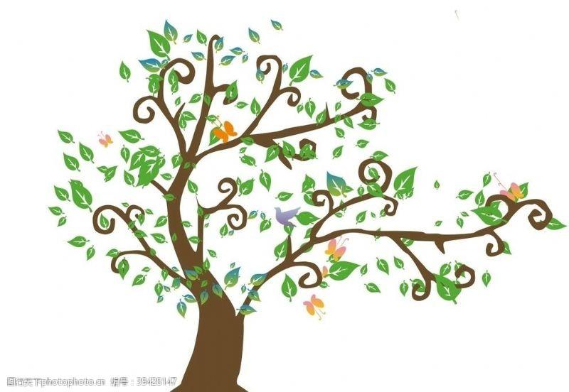 展板造型卡通树图片