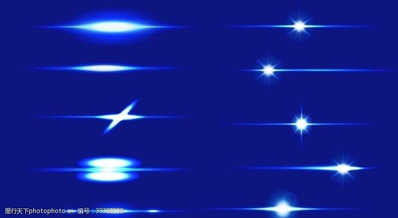 光圈蓝底闪光素材图片