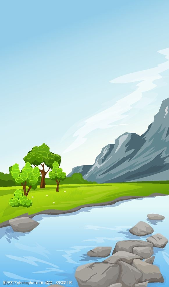 美丽背景绿色森林图片