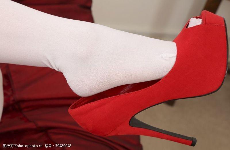 模特美腿丝袜美女高跟鞋连裤袜图片