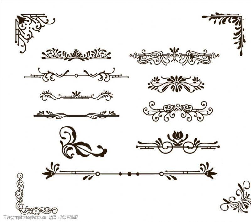 欧式花纹欧式花边图片