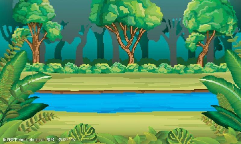 美丽背景森林图片