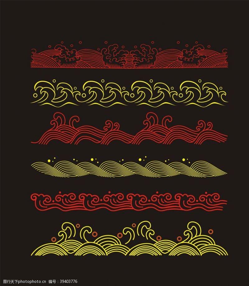 古典花边矢量中国风佛窗花剪纸图片