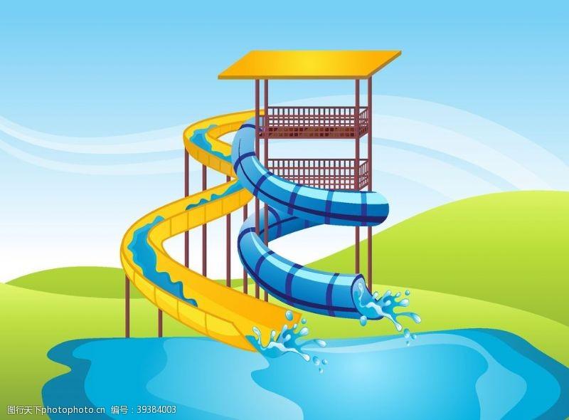 水上滑梯图片