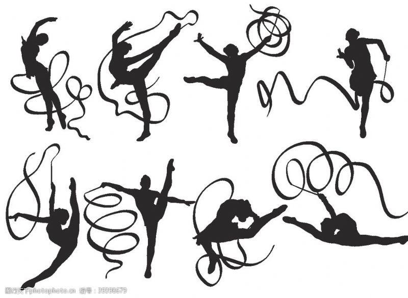 卡通设计跳丝带舞图片