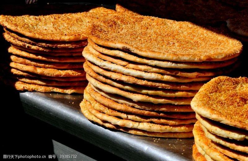 美食宣传新疆美食烤馕图片