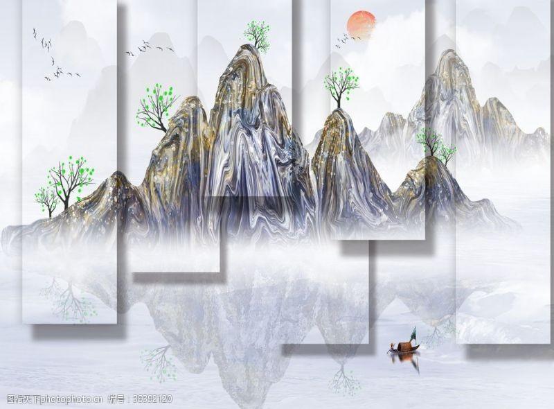 巨幅新中式山水图片