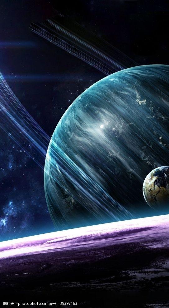 立体画宇宙星球图片