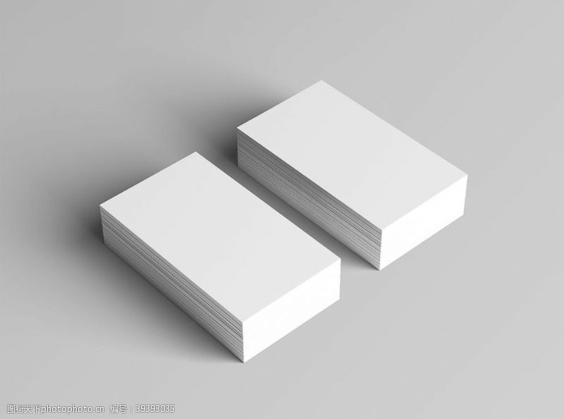 包装设计白色名片效果图样机图片
