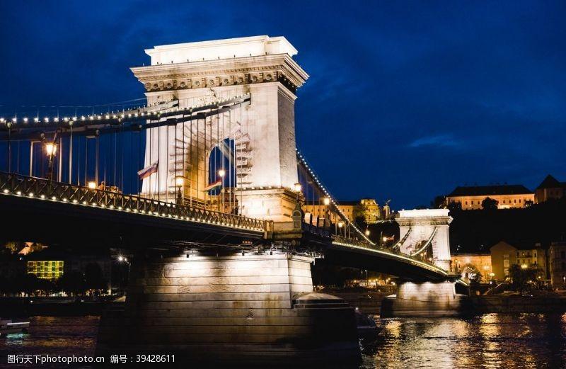 城市桥梁建筑背景海报素材图片