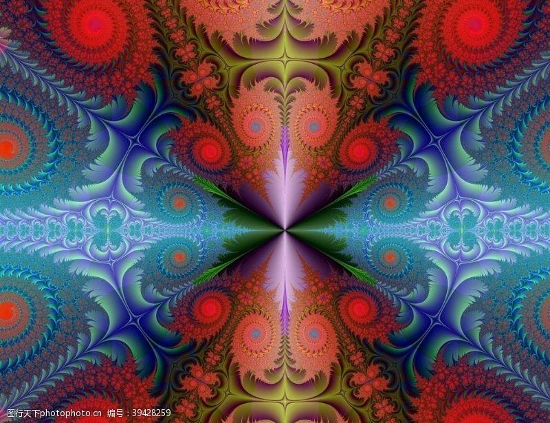 创意装饰画抽象对称花纹图片