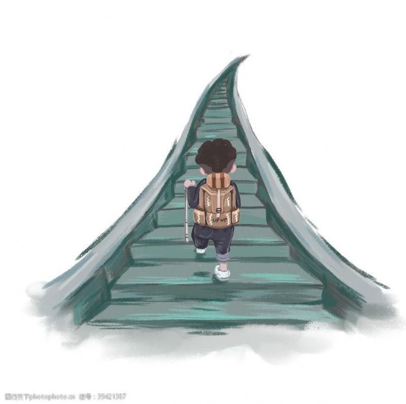 风景漫画儿童节元素图片
