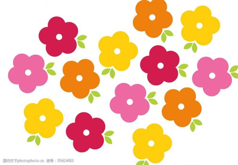 条纹花朵图片