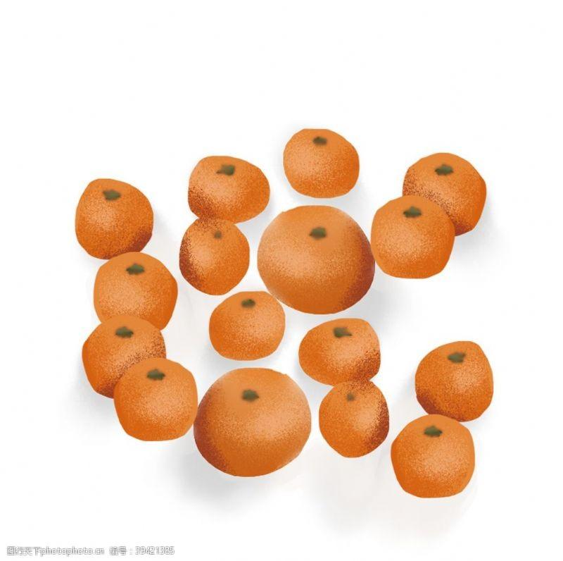 风景漫画橘子元素图片