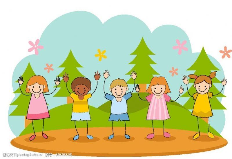 幼儿园可爱卡通儿童图片