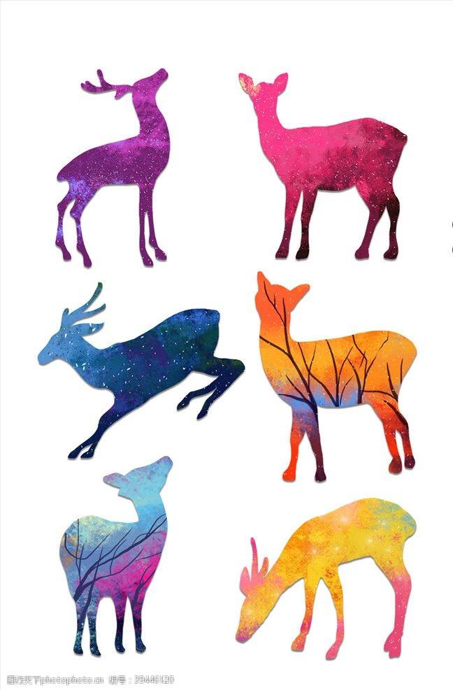 新品上市麋鹿素材图片