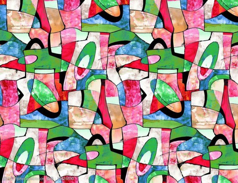 几何图形色块背景水彩几何图片