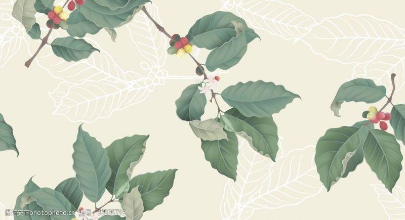 矢量花朵枝树叶图片