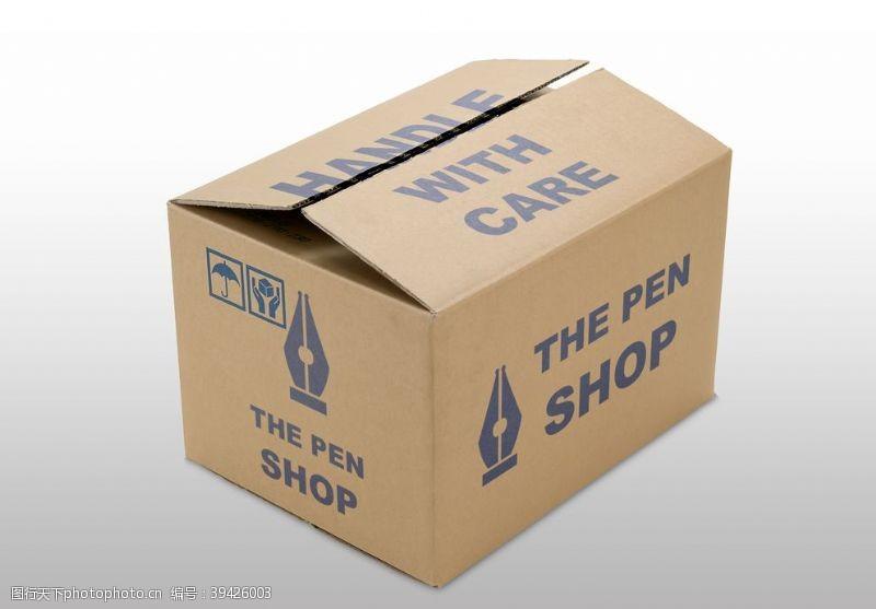mockup纸箱包装样机图片