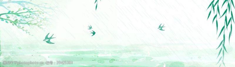 巨幅垂柳背景图片