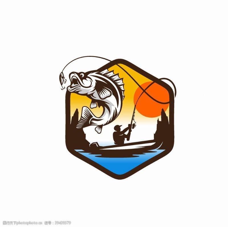 钓鱼俱乐部标志图片