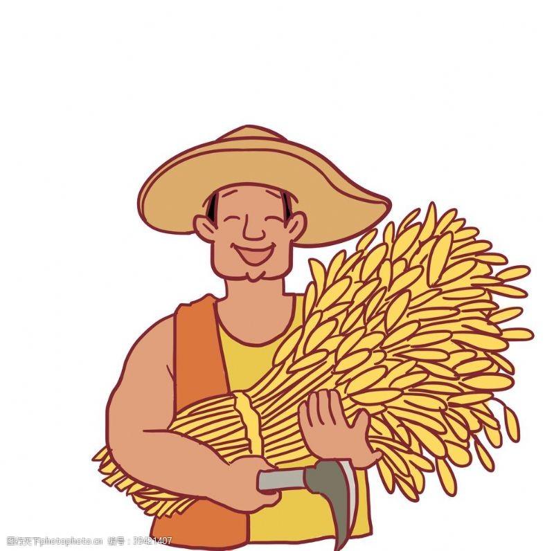 男性男人丰收农民图片