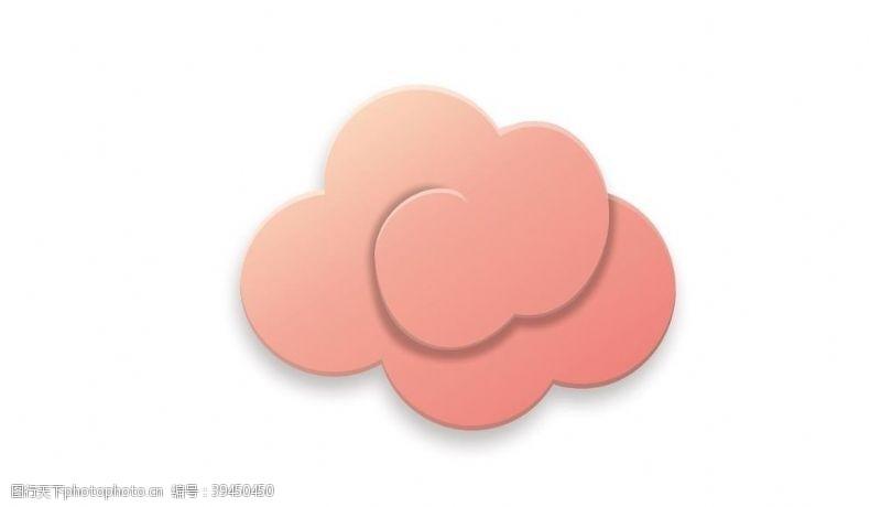 线条粉色祥云云纹中国风图片