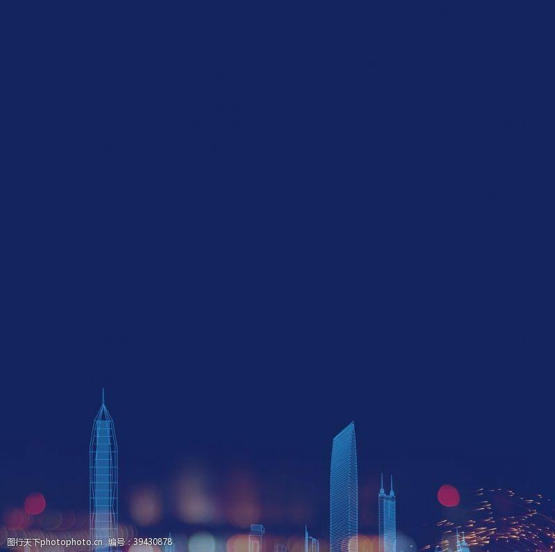 国内广告设计高端地产品牌线条深圳城市地标图片