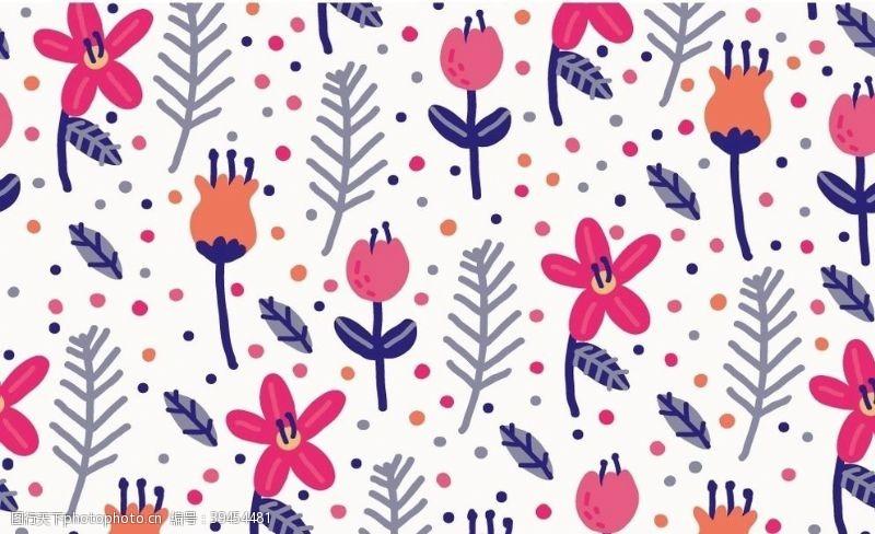 纹理花卉背景图片