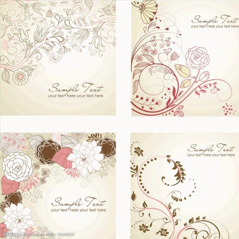 欧式花纹花纹背景图片