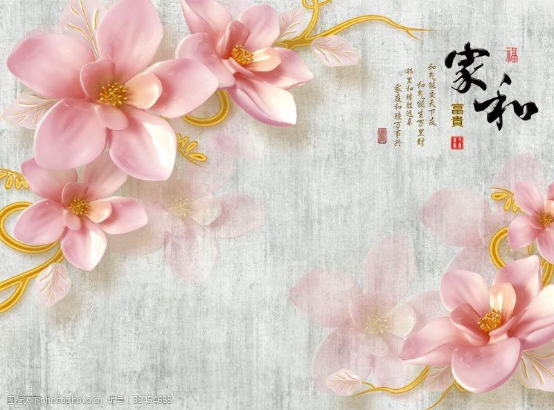 纹理家和富贵玉兰花图片