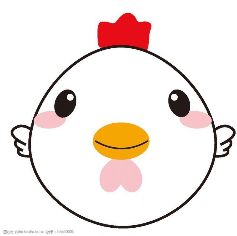 印刷鸡图片