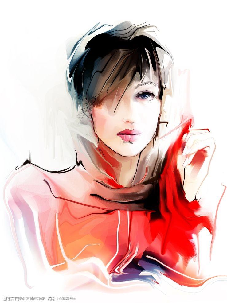 性感美女美女插画图片
