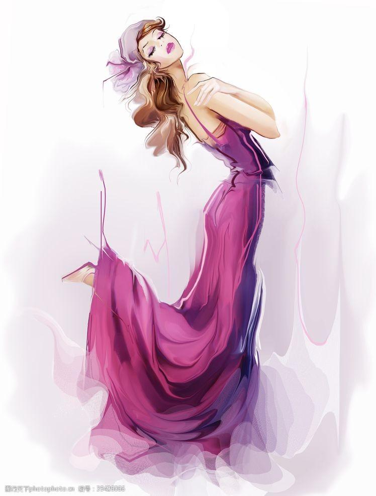 性感美女美女绘画图片