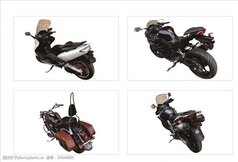 剪影摩托车图片