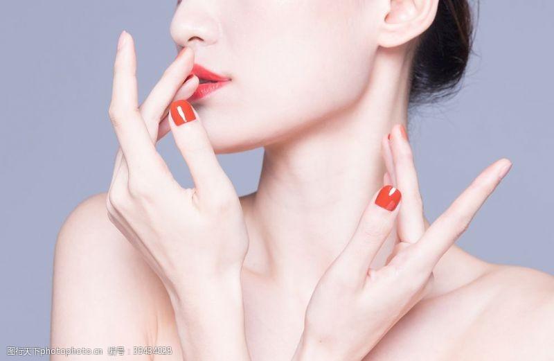 女性人物模特护肤素材图片