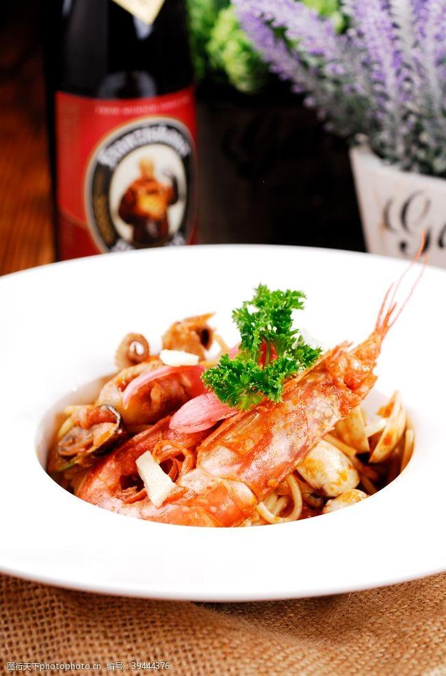 杂酱面普罗旺斯海鲜意大利面图片